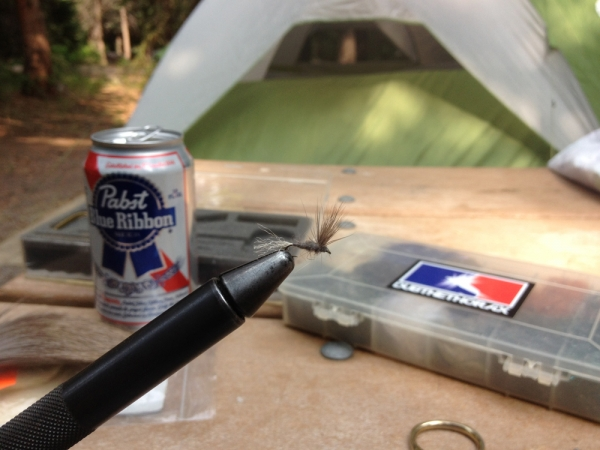 Tying at the Campsite