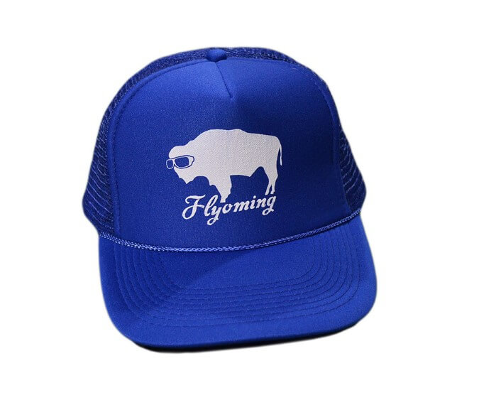 Flyoming foam trucker hat the fly trout fly fishing for Fishing trucker hats