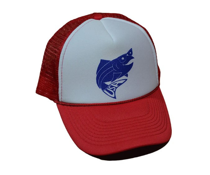 Fly Trout USA Foam Trucker Hat