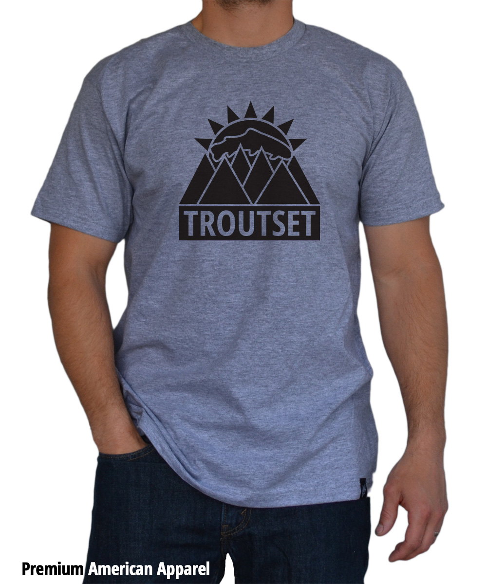 Troutset T Shirt The Fly Trout Fly Fishing T Shirts