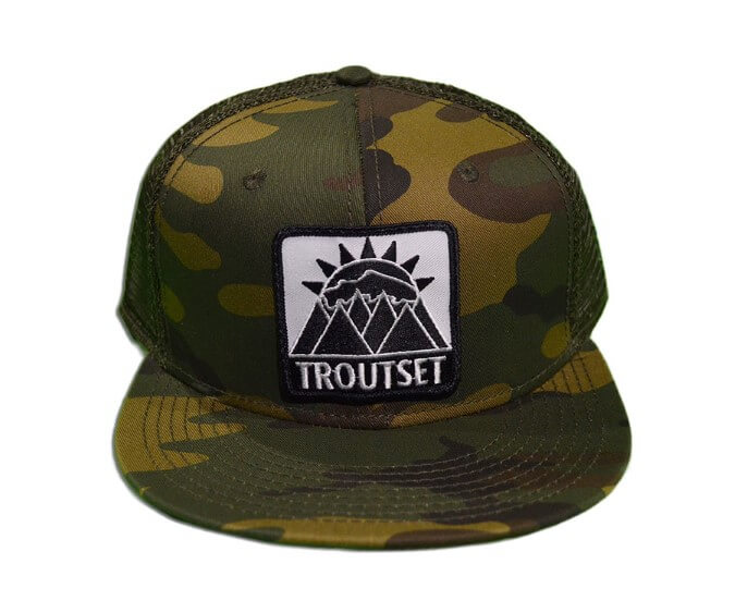 Troutset hat mesh camo the fly trout fly fishing apparel for Mesh fishing hats