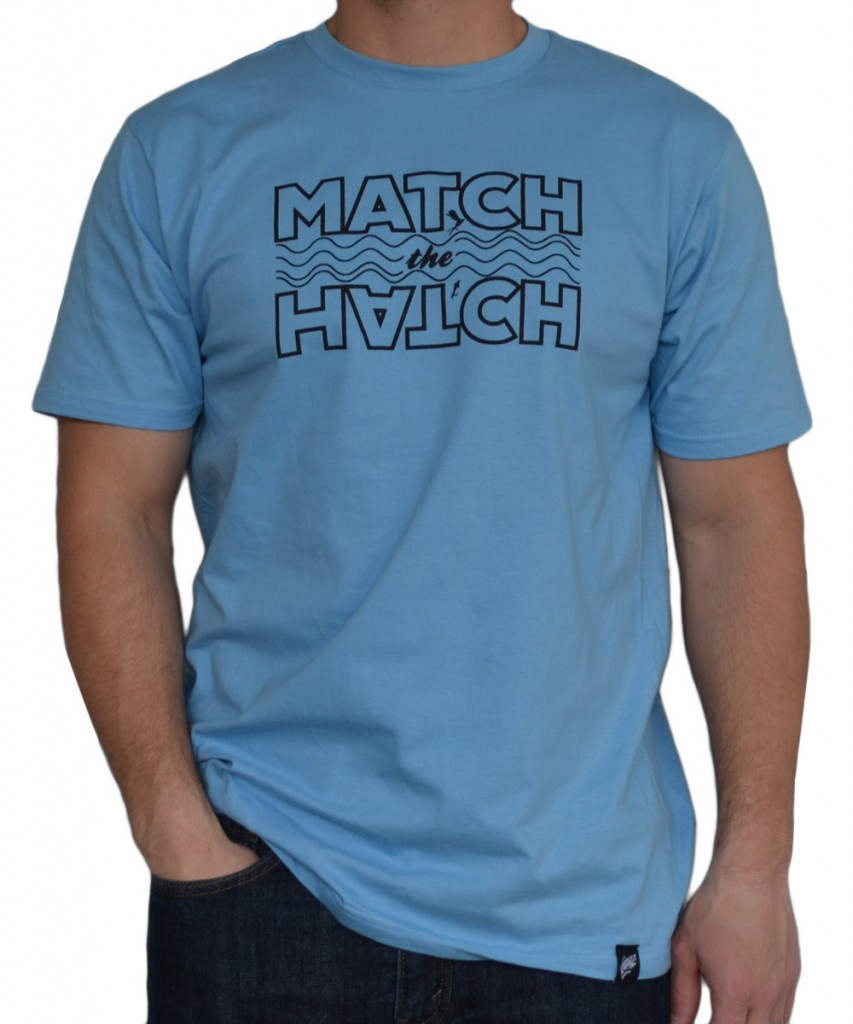 Match the hatch t shirt the fly trout fly fishing apparel for Fly fishing clothing