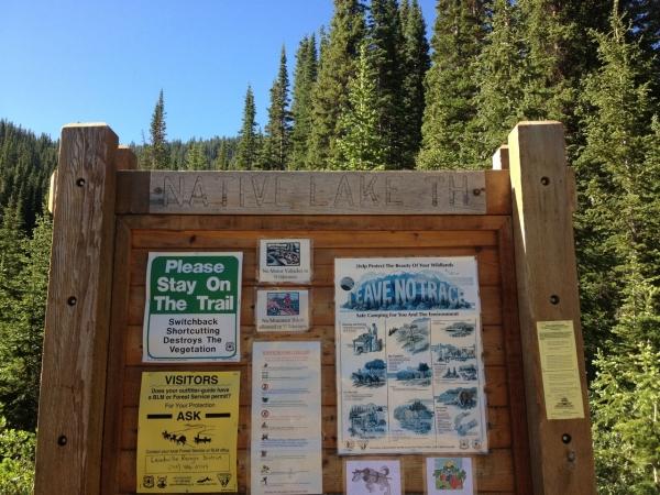 Native Lake Hike Sign