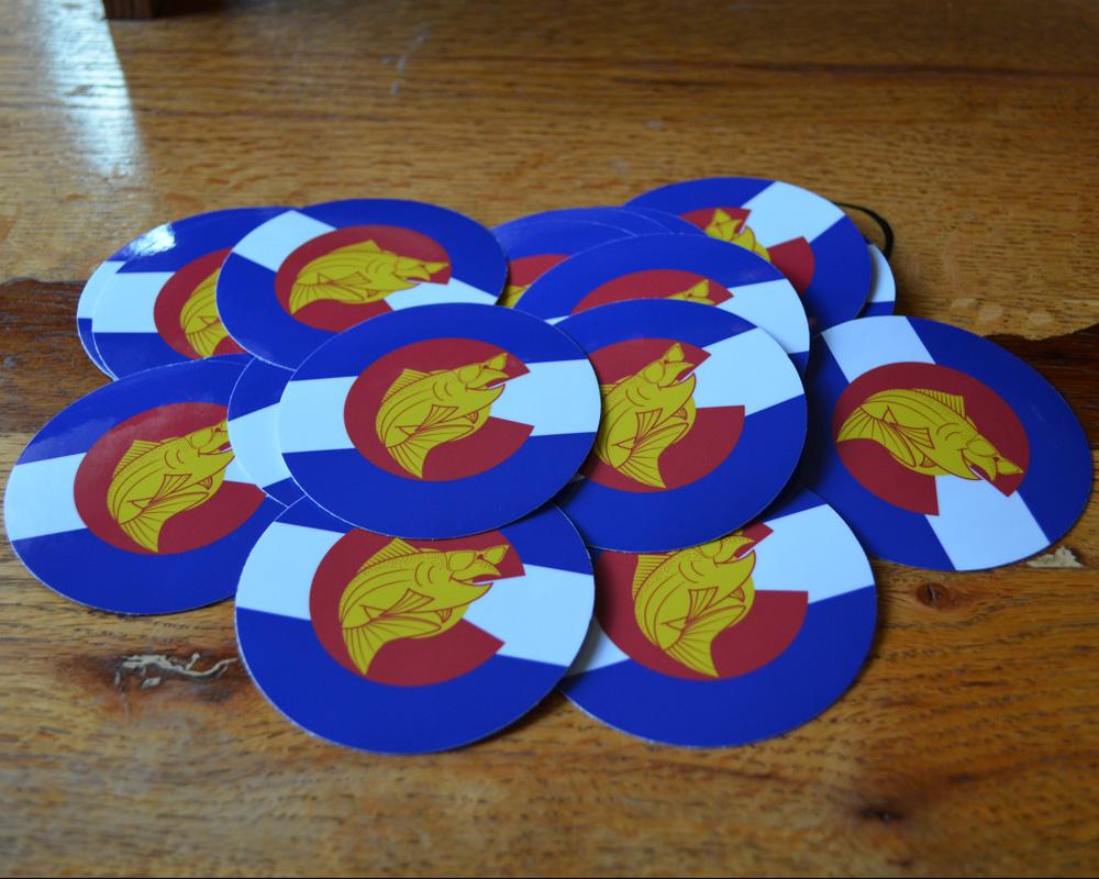 Circle Colorado Stickers