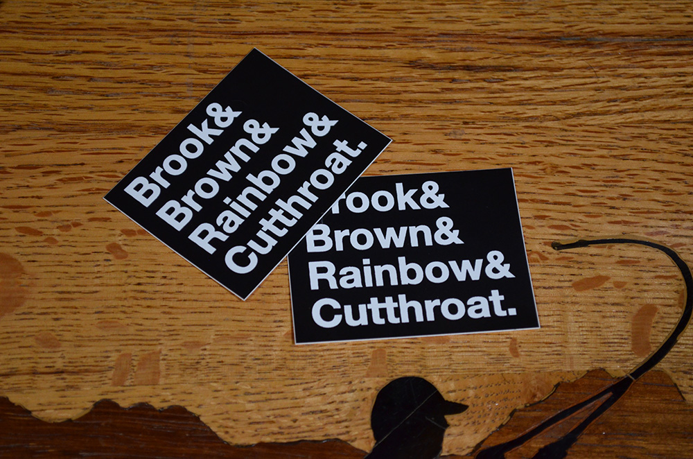 Trout Names Stickers
